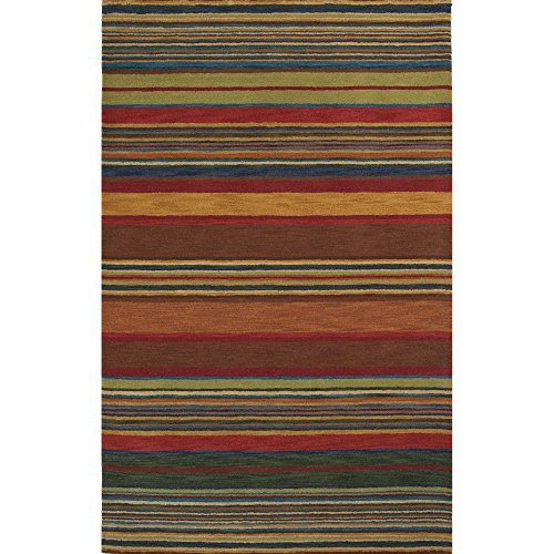 Liora Manne Inca 9441/44 Stripes Multi Area Rug 8 Feet X 10 Feet (Ocean Trans Inca Stripes)
