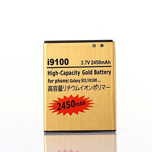 Gold Extended Samsung Galaxy S2 SGH-i777 High Capacity Battery EB-L1A2GBA EB-F1A2GBU For Samsung Galaxy S II SGH-i777 / Samsung Galaxy S II I9100 / Samsung Galaxy S2 SGH-i777 / Samsung Galaxy S2 I9100 2450 mAh