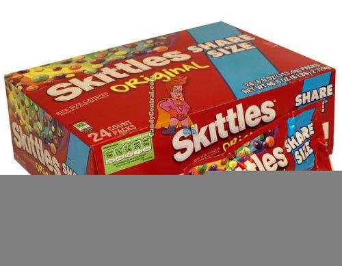 Skittles Bite Size Original Tear/Share Candy, 4 Ounce - 24 per pack -- 6 packs per case.