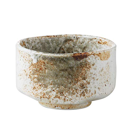 Minoyaki Handmade Matcha Bowl with Speckled Design