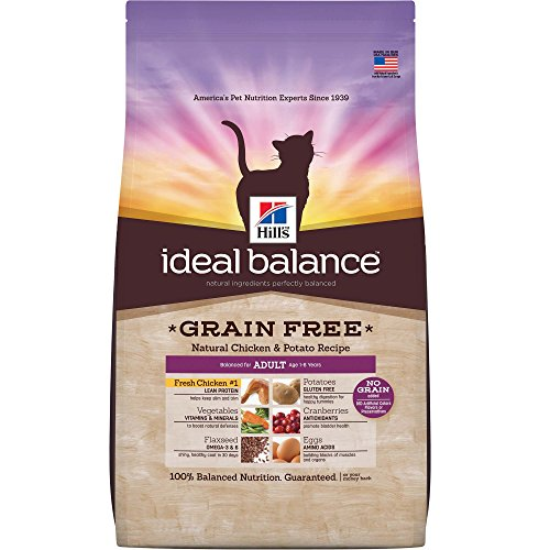 Hill's Ideal Balance Adult Grain Free Natural Chicken & Potato Recipe Dry Cat Food, 11-Pound Bag