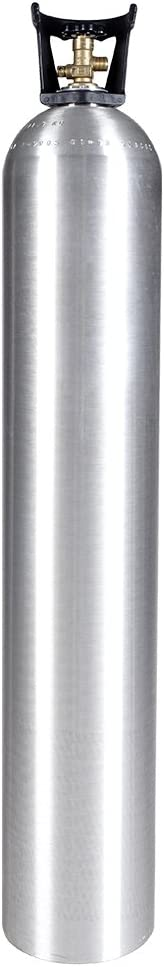 New 50 lb Aluminum CO2 Cylinder with CGA320 Valve