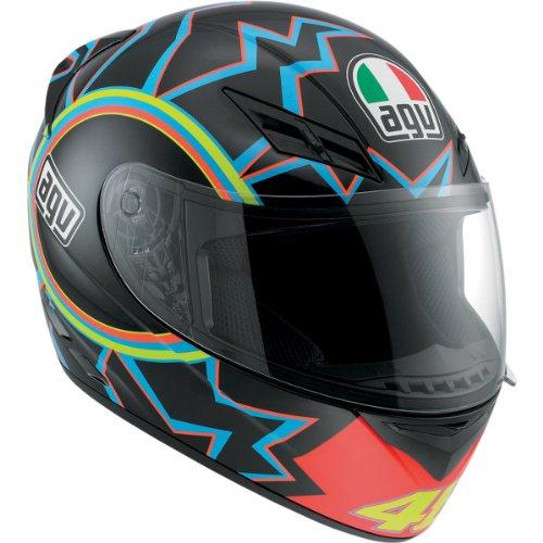 AGV K2 46 Helmet , Distinct Name: 46, Gender: Mens/Unisex, Helmet Category: Street, Helmet Type: Full-face Helmets, Primary Color: Black, Size: XS 032150A0014004