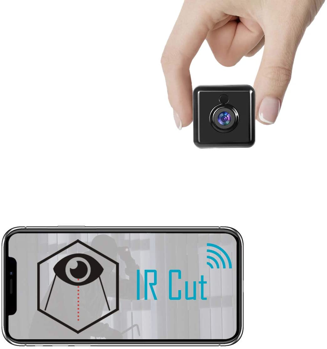 Spy Camera Real 1080P HD Wireless Hidden Camera Mini WiFi Nanny Cam Portable Indoor Outdoor Security Camera with Phone App, IR Cut, Night Vision, Motion Detection Smallest Cam A22 Pro [2020 Newest]
