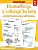 img - for Informational Passages for Text Marking & Close Reading: Grade 1: 20 Reproducible Passages With Text-Marking Activities That Guide Students to Read Strategically for Deep Comprehension book / textbook / text book