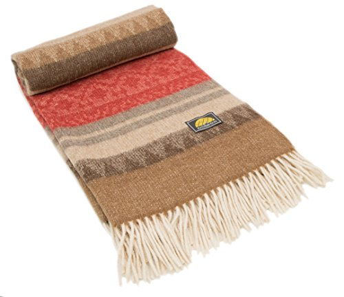 Wool Blanket Blend Throw (NOT A COUNTERFEIT - AUTHENTIC ALPACA Throw Blanket - COZINESS Guaranteed by the Best Natural THERMAL MANAGEMENT: Never Too Warm or Cold, ALWAYS CUDDLY! - Premium Quality - Classic Southwest Design)