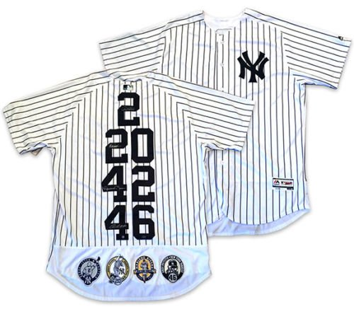 (JETER, MARIANO, PETTITTE, POSADA Signed Ret. Patch Core 4 Jersey STEINER LE 27)