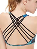 icyzone Women's Workout Yoga Clothes Strappy Crisscross Racerback Sports Bras,Tree,Medium offers