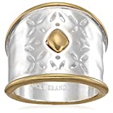 Lucky Brand Women's Openwork Ring, Two Tone, 7