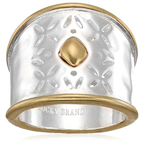 Lucky Brand Women's Openwork Ring, Two Tone, (Two Tone Openwork)