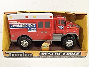 NEW! Tonka Lights & Siren Sounds Rescue Force Red
