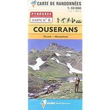 CARTE PYRÉNÉES /06 COUSERANS, VALIER & MAUBERMÉ