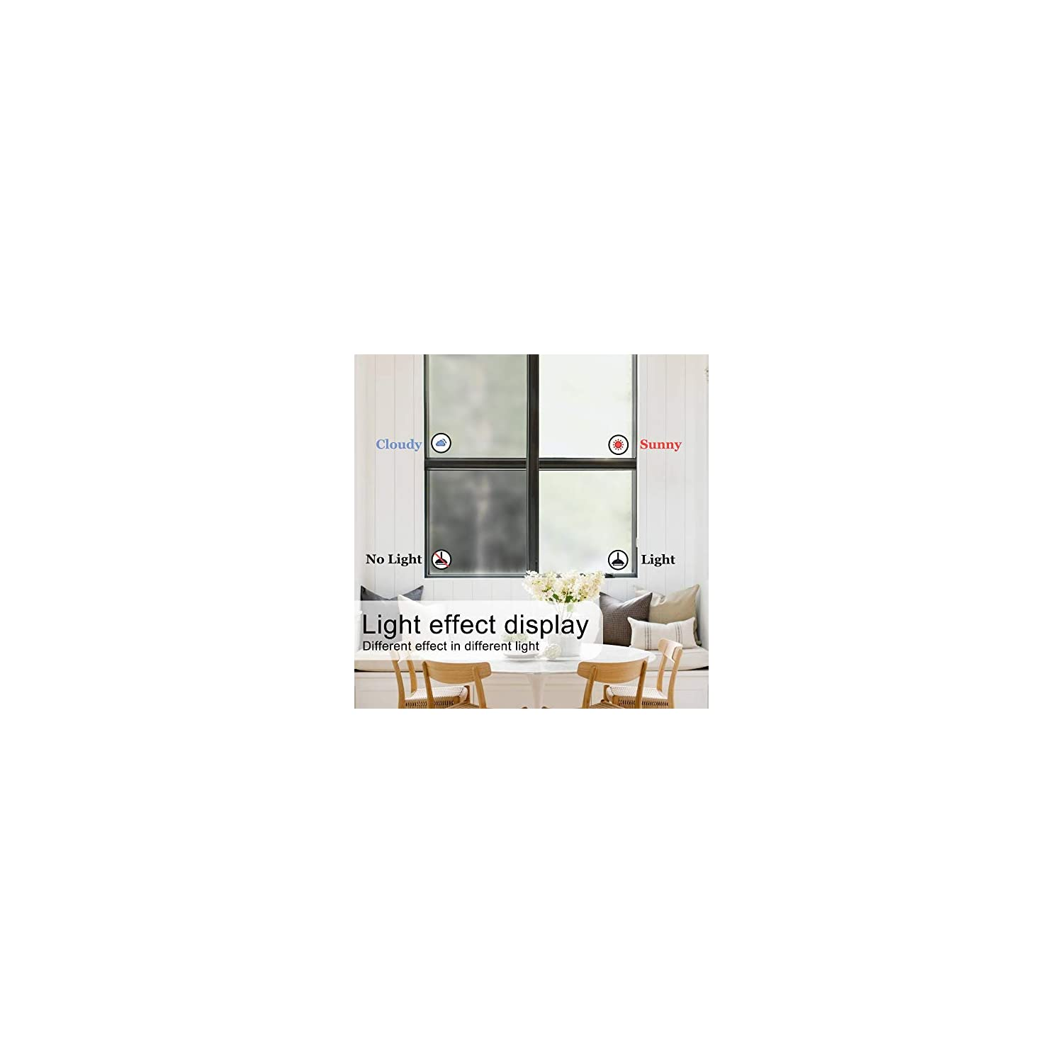 DKTIE Window Privacy Film Non Adhesive Frosted Home Office Film Removable Opaque Window Sticker Self Static Cling Vinly Glass Film for Bathroom (Matte White 35.4by78.7 Inch)