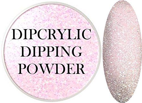 SHEBA NAILS Dipcrylic Dip Dipping Powder SUGAR PINK - 1oz Jar by Sheba Nails