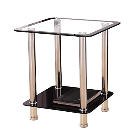 Folding table Nan Mesa de Comedor de Doble Vidrio - Estante de ...
