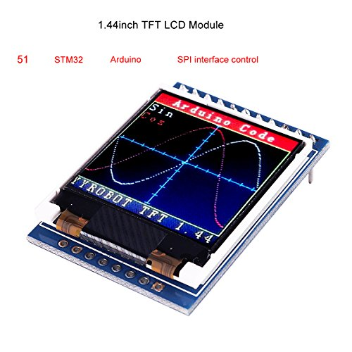 MakerFocus TFT LCD Screen 1.44 inches TFT LCD Module, 128x128 SPI, Picture Graphic Color Screen, 51 STM32 Arduino Routines to Replace 5110 OLED 5V for Arduino