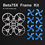 BETAFPV Beta75X 3S Whoop White Frame Kit with 2 Sets 40mm 4-Blade Props 1.5mm Shaft Blue for 75mm 3S Brushless Beta75X Whoop Drone