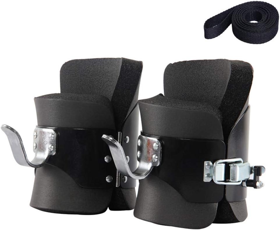 ZLASS Bottes dinversion Anti-gravit/é au Cou et aux /épaules Aide /à soulager la Douleur au Dos Bottes de Suspension dinversion avec Crochets en Acier Inoxydable et Ceinture de s/écurit/é de 2 m
