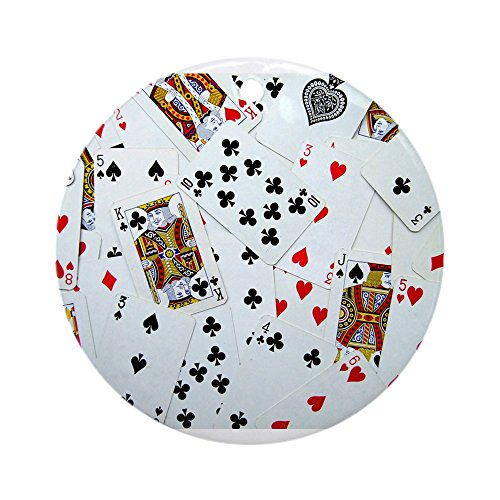 CafePress Playing Cards Ornament (Round) Round Holiday Christmas Ornament