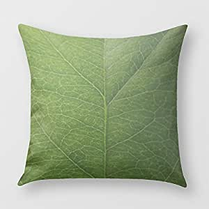 Green Leaf Pillow Cover for Sofa or Bedrooms