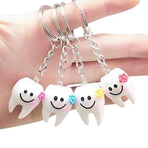 SODIAL 20 piezas llavero llavero colgante diente forma lindo regalo dental 154961