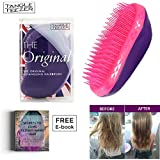 Tangle Teezer Professional Wet & Dry Detangling Hairbrush for All Hair Types | Prevents Hair Loss Breakage Damage | Straightening Detangler Hair Comb Massages Hair Shafts (Violet Lolipop + eBOOK)