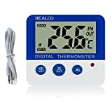 HEALCO Digital Freezer/Fridge Thermometer with Magnet and Stander...