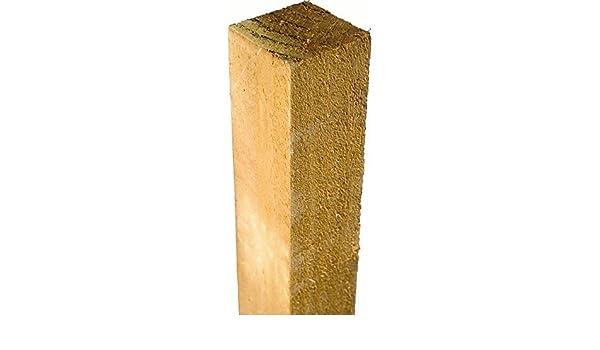 Postes de madera tratada 75 mm x 75 mm x 1,2 metros (1.200 ...