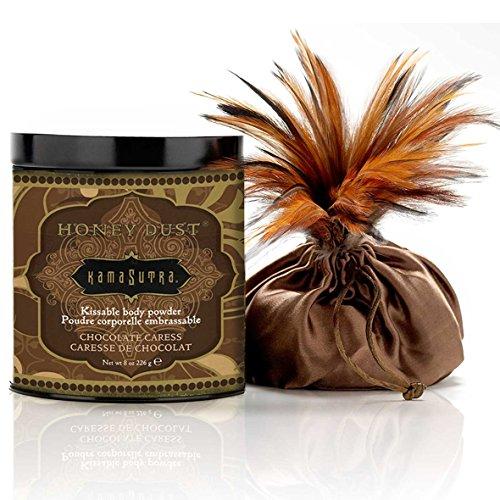 Kama Sutra Kissable - Kama Sutra Honey Dust Chocolate Caress Kissable Body Powder 8 Oz, 8 Ounce