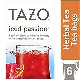 Tazo Iced Passion Tea Bag, Herbal Tea, 6 ct