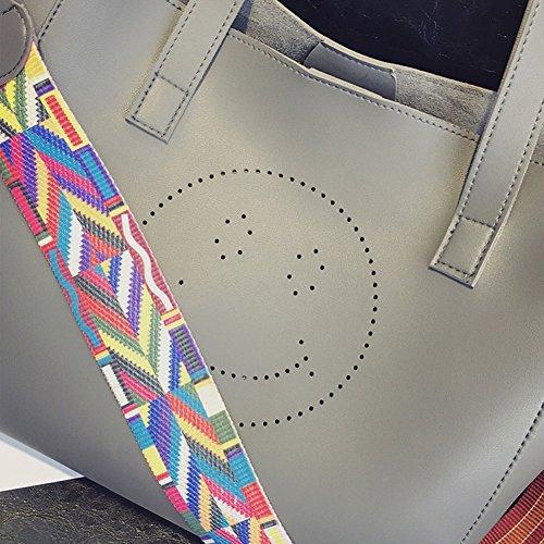 Shoppers Bolera Bolsos Bolsos Para Bolsos Bandolera Bolsos Vintage Baguette Mujer Rucio Coloreada Bolsos Gris Totes Cinta rRnXxBFqr