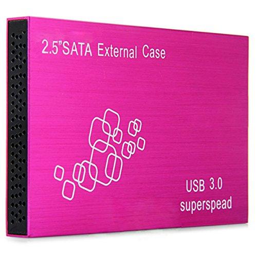USB 3.0 External 2.5Inch SATA Hard Disk Drive Enclosure Case (Red) - 8