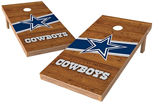 PROLINE NFL Dallas Cowboys 2'x4' Cornhole Board Set with Bluetooth Speakers - Logo Design by PROLINE