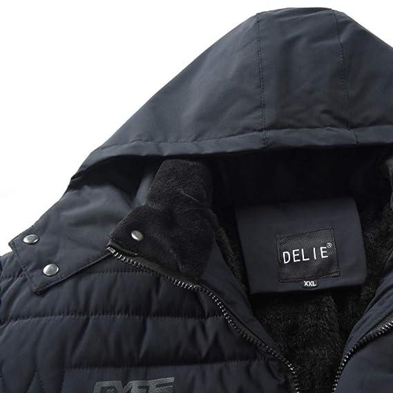 FEDULK - Abrigo de Invierno con Capucha para Hombre, Informal ...