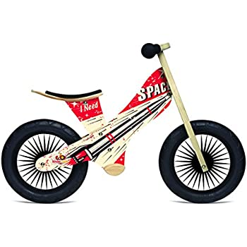 Kinderfeets Retro Wooden Balance Bike, Rocket