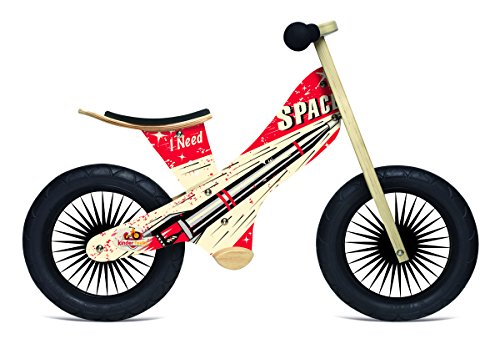 Kinderfeets Retro Wooden Balance Bike, Rocket