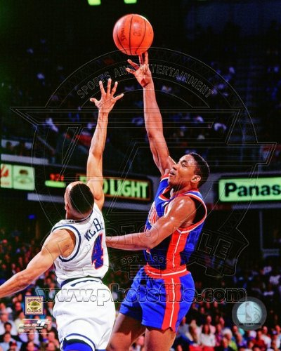NBA Isiah Thomas Detroit Pistons Action Photo #1 8x10