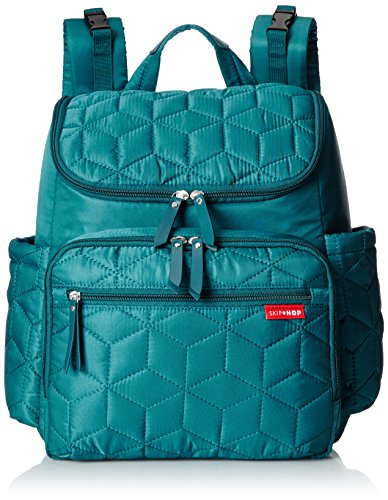 skip hop forma travel carry all diaper backpack with insulated bag one size peacock luggage. Black Bedroom Furniture Sets. Home Design Ideas