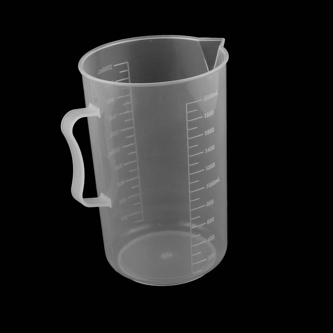 uxcell Kitchen Lab 2000mL Plastic Measurment Cup Jug Pour Spout Container
