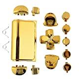 Jadebones Chrome Plating Replacement Repair Buttons with 2 Springs Set for PS4 Controller DualShock 4 (Gold)