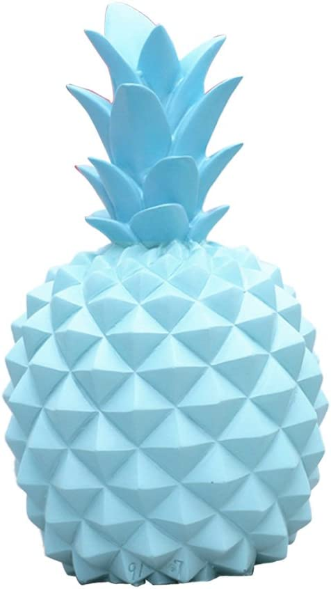 White M Novelty Pineapple Resin Coin Piggy Bank Boxes Money Boxes Ornaments Home Furnishings for Kids Christmas Birthday Gifts as described