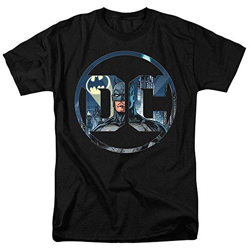 Batman Hoodie Mask (Batman DC Comics Logo T Shirt & Exclusive Stickers (X-Large))