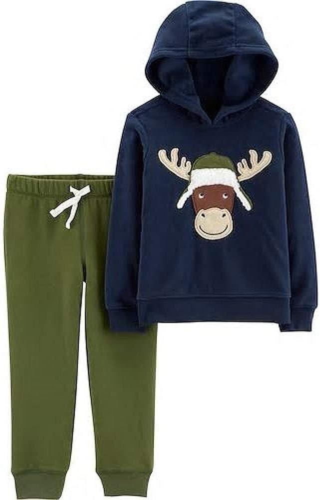 Carter's Toddler Boy Moose Pullover Hoodie & Jogger Pants Set Size 5T