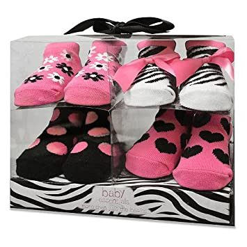 Baby Essentials Girls Baby//infant Bootie Socks
