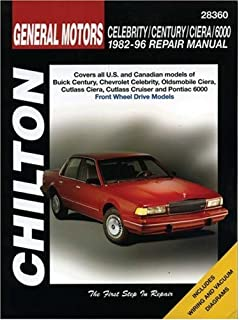 General motors a cars 1982 thru 1996 automotive repair manual gm celebrity century ciera and 6000 1982 96 chilton total fandeluxe Gallery