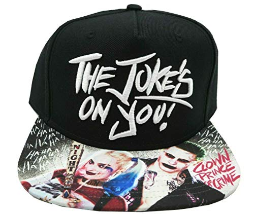 (Suicide Squad Joker & Harley Quinn The Jokes On You! Sublimated Bill Snapback)