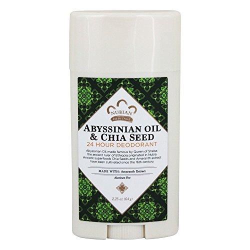 Nubian Heritage Abyssinian Oil & Chia Seed 24 Hour Deodorant Stick, 2.25 Ounce (Deodorant 24 Sport)