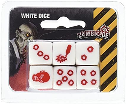 Zombicide: 6 White Dice Board Game by Cool Mini or Not: Amazon.es: Juguetes y juegos
