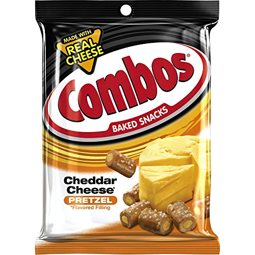 COMBOS Cheddar Cheese Pretzel Baked Snacks 6.3-Ounce Bag (Pack of 12) - Mars Pretzel Combos