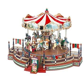 Amazon.com: Mr. Christmas Holiday Around the Carousel: Home & Kitchen